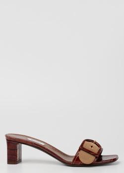 Мюли Max Mara Midy из кожи с эффектом кроко, фото