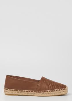 Кожаные эспадрильи Max Mara Eli с тиснением эмблемы, фото