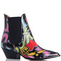Разноцветные казаки-челси Ras на низком каблуке, фото