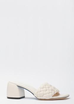 Белые мюли Loriblu с плетением, фото