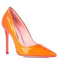 Туфли-лодочки Gianni Renzi Renzi из лаковой кожи оранжевого цвета, фото