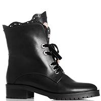 Черные ботинки Helena Soretti со стразами, фото