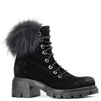 Ботинки Fru.it черного цвета с мехом, фото