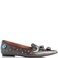 Туфли на низком ходу Ras с декором, фото