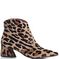 Леопардовые ботильоны Ras с молнией на заднике, фото