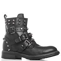 Черные ботинки J.J.Delacroix с металлическим декором, фото