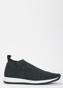 Черные кроссовки Jimmy Choo со звездами, фото