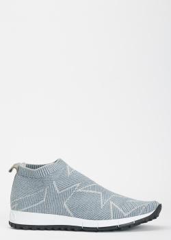 Голубые кроссовки Jimmy Choo с изображением звезд, фото