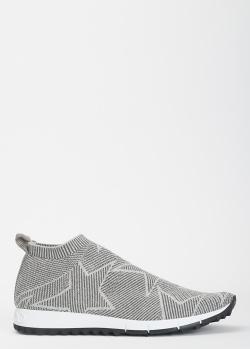 Кроссовки без шнуровки Jimmy Choo серого цвета, фото