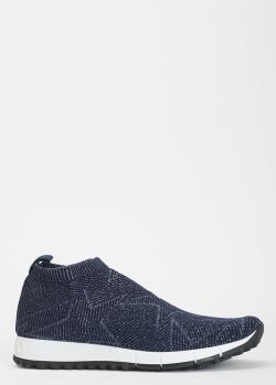 Синие кроссовки Jimmy Choo без шнуровки, фото