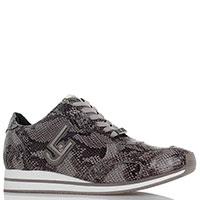 Кроссовки Liu Jo серого цвета с принтом под рептилию, фото