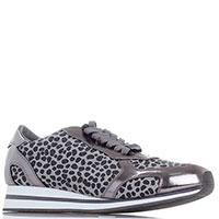 Пятнистые кроссовки Liu Jo серого цвета, фото