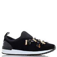 Кроссовки Liu Jo черного цвета с декором из страз, фото