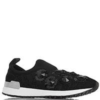 Черные кружевные кроссовки Liu Jo с блестящим декором, фото