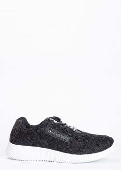 Черные кроссовки Philipp Plein Sport с фактурным узором, фото