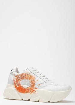 Белые кроссовки Voile Blanche Monster на массивной подошве, фото