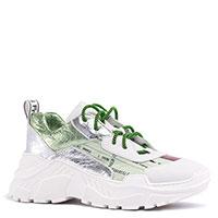 Белые кроссовки Fru.It с зелеными вставками, фото