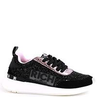 Черные кроссовки John Richmond с глиттерными блестками, фото