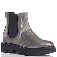 Ботинки-челси Camerlengo серебристого цвета на толстой подошве, фото