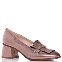 Бронзовые Camerlengo туфли на толстом каблуке, фото