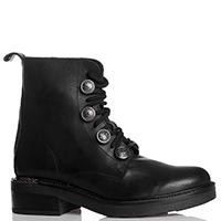 Черные ботинки Loretta Pettinari с декором-пуговицами, фото