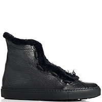 Ботинки Camerlengo из кожи черного цвета, фото