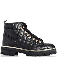 Стеганые ботинки Camerlengo с текстильными шнурками, фото