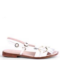 Белые сандалии Camerlengo с бахромой, фото