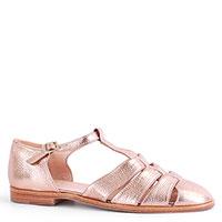 Золотистые сандалии Camerlengo из зернистой кожи, фото
