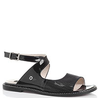 Лаковые босоножки Tuffoni черного цвета, фото