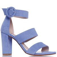 Голубые босоножки Albano на высоком каблуке, фото