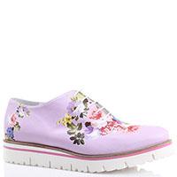 Розовые туфли на толстой подошве Luigi Traini с цветочным принтом, фото