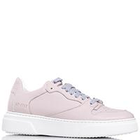 Розовые кроссовки Stokton на серой шнуровке, фото