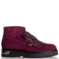 Бордовые ботинки Loretta Pettinari с бахромой, фото