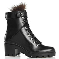 Черные ботинки Sofia Baldi на устойчивом каблуке, фото