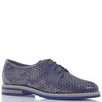 Туфли Mot-Cle синего цвета на низком каблуке, фото