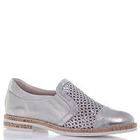 Золотистые туфли Mot-Cle на низком каблуке с перфорацией, фото