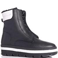 Черные ботинки Tine's на толстой подошве, фото
