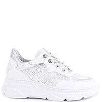 Белые кроссовки Tine's с серебристыми шнурками, фото