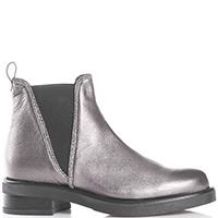 Серебристые ботинки Albano с эластическими вставками, фото