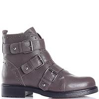Коричневые ботинки Albano с декоративными пряжками, фото