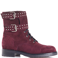 Замшевые ботинки Albano бордового цвета, фото