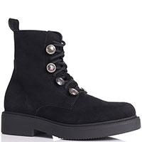 Женские ботинки Nila&Nila из черной замши, фото