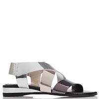 Трехцветные лаковые сандалии Nr Rapisardi на резинке, фото