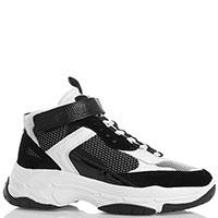 Черно-белые кроссовки Calvin Klein Missie на толстой подошве, фото