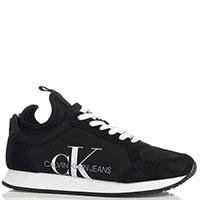 Черные текстильные кроссовки Calvin Klein Josslyn с белой подошвой, фото