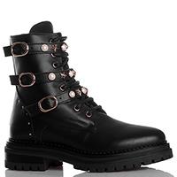 Черные ботинки Stokton с декоративными ремешками, фото