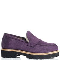 Утепленные лоферы Gianni Famoso фиолетового цвета, фото
