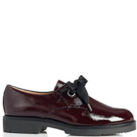 Лаковые туфли Mot-Cle бордового цвета, фото