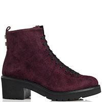 Замшевые ботинки Mot-Cle сливового цвета, фото